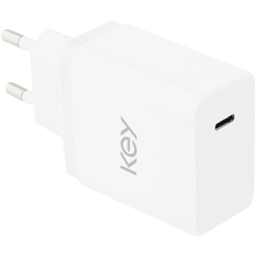 Key Power 18W seinälaturi + 1M USB Type-C -johto