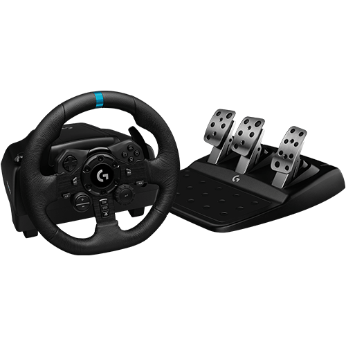 Logitech G923 -ratti ja polkimet (PlayStation + PC)