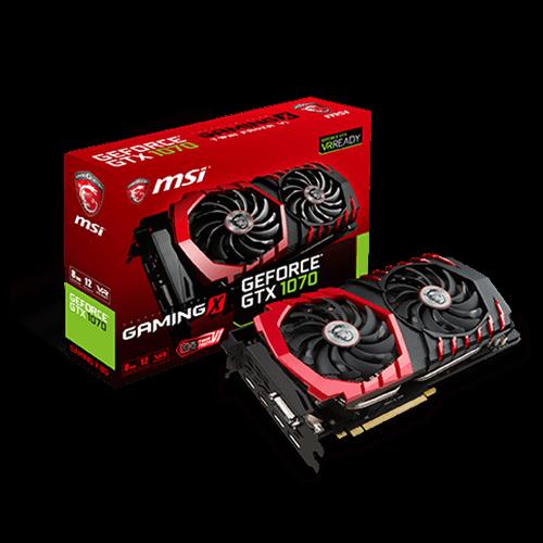 GeForce GTX 1070 GAMING X 8G -näytönohjain