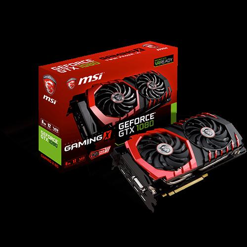 GeForce GTX 1080 GAMING X 8G -näytönohjain