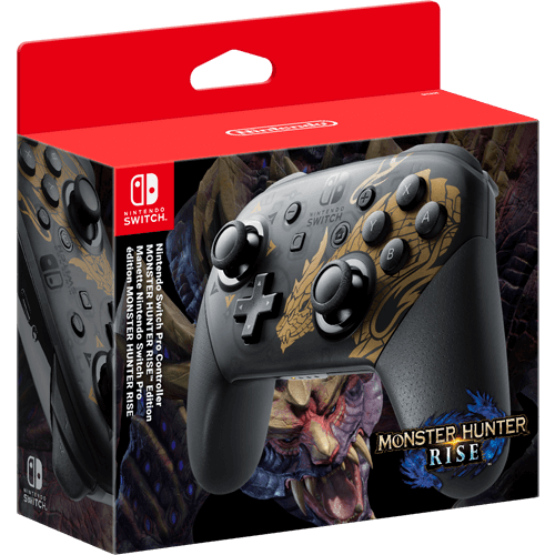 Nintendo Switch Monster Hunter Rise Pro Controller -ohjain