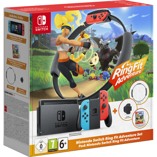 Nintendo Switch Ring Fit Adventure Bundle -konsolipaketti