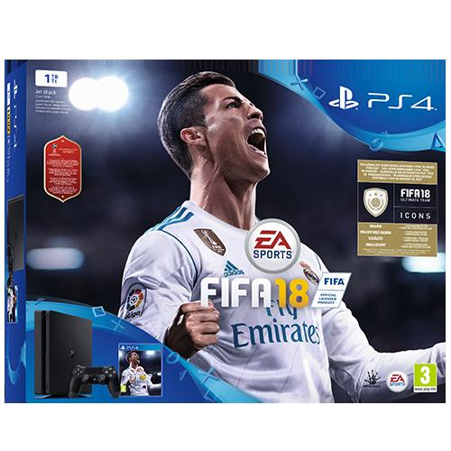 Playstation 4 1 Tb -konsoli + FIFA 18 -paketti