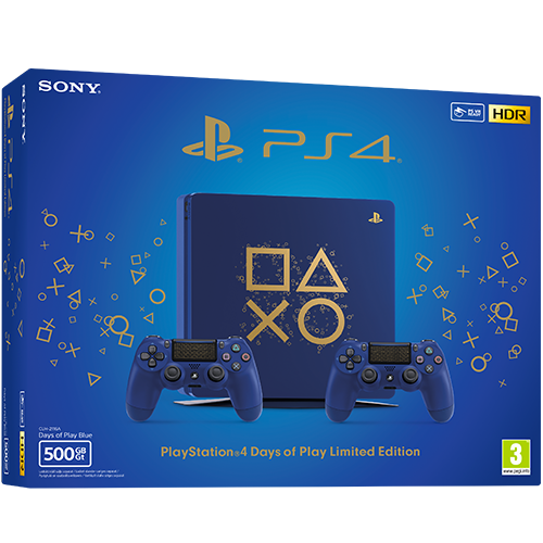 Playstation 4 500 GB Days of Play -pelikonsoli