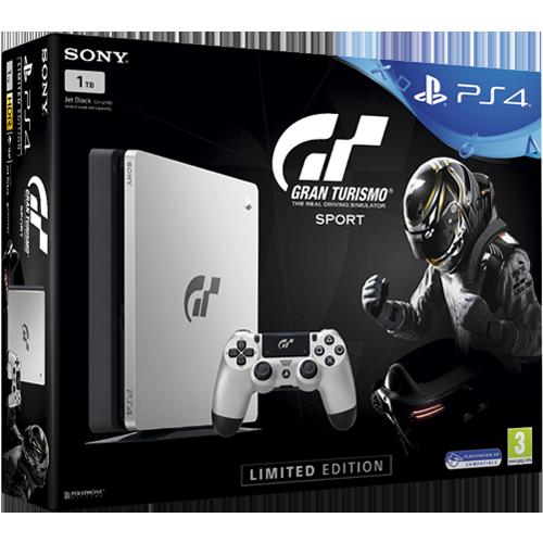 PS4 -konsoli + Gran Turismo Sport
