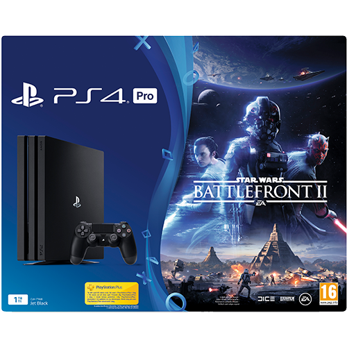 PS4 Pro 1 Tb -konsoli + Star Wars Battlefront II