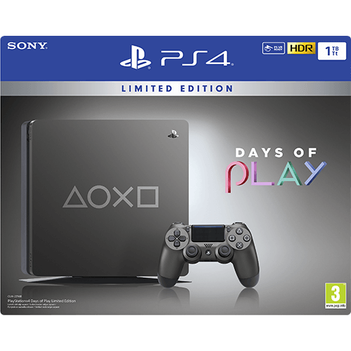 Sony PlayStation 4 1TB Days Of Play Special Edition -pelikonsoli