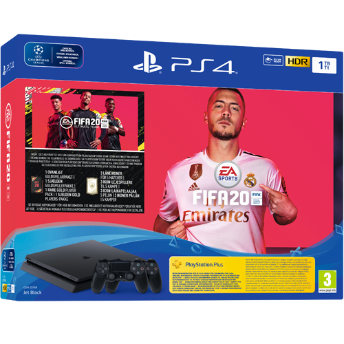 Sony PlayStation 4 1 TB + FIFA 2020 + DS4 -paketti