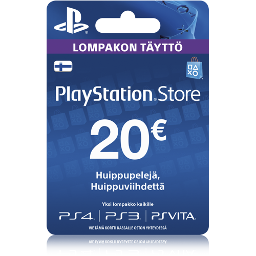 PlayStation Network 20 EUR -latauskortti